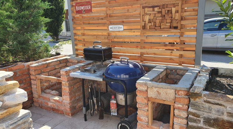 Die Mauern der Outdoor-Küche